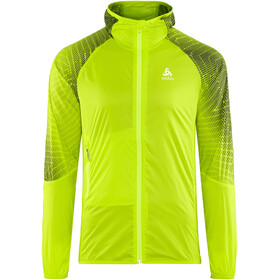 Odlo Wisp Jacket Men acid lime-placed print SS18
